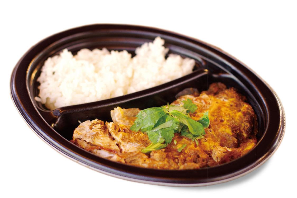 信州米豚の贅沢ソースカツ丼のお弁当ランチ