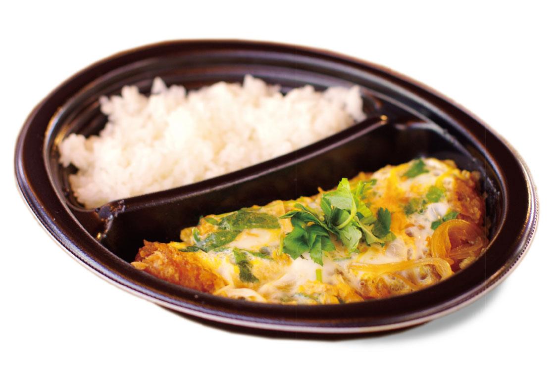 信州米豚の卵とじカツ丼のお弁当ランチ